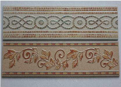 美式田园客厅地砖 仿古砖腰线 波导线瓷砖
