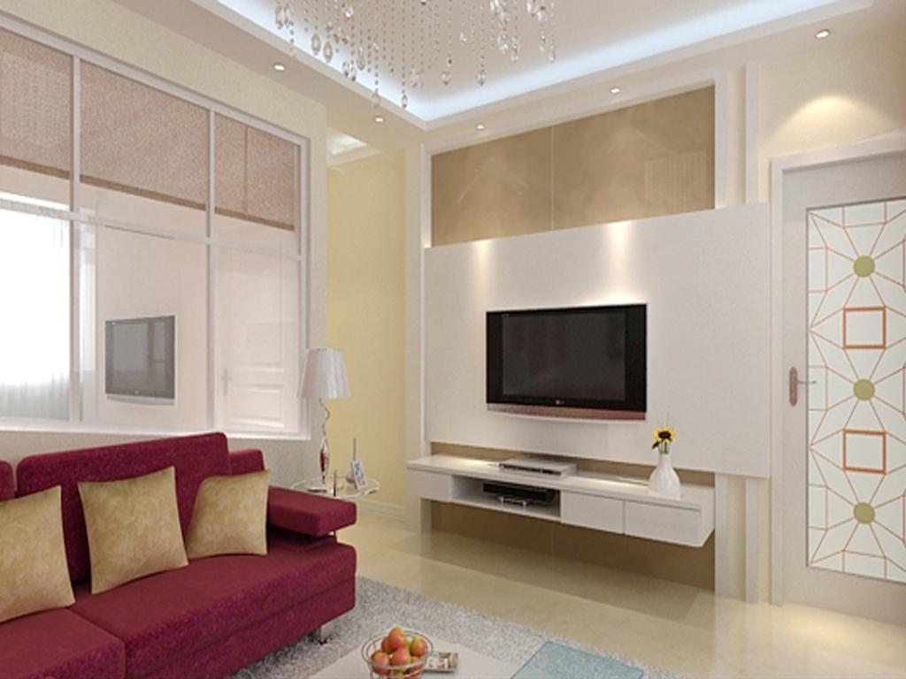 公寓式客厅效果 30平米卧室卫生间阳台装修效果图及平面图