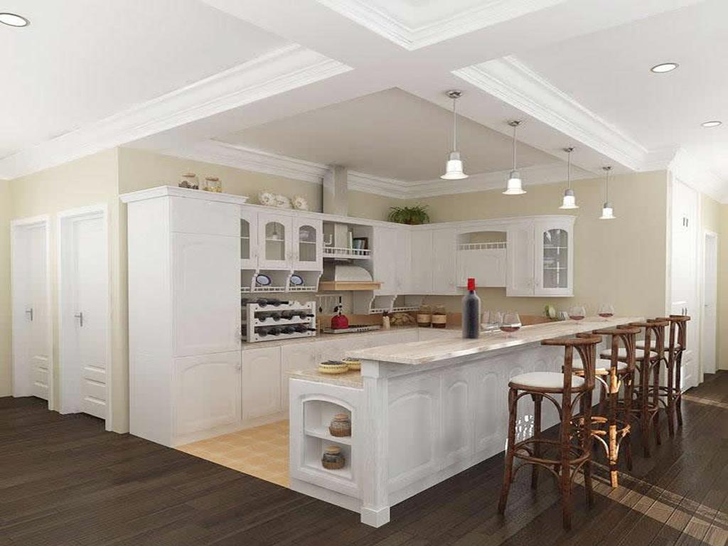 公寓式厨房效果 厨房,家装效果图,装修效果图,室内设计效果