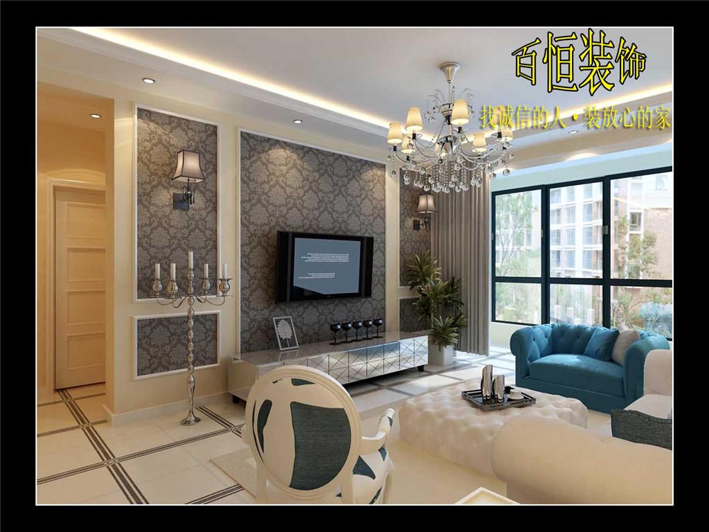 河岸花园 客厅 , 家装 效果图, 装修效果图 ,室内设
