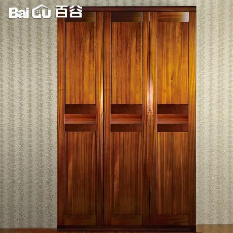 百谷 高端纯实木衣柜 二门三门衣柜