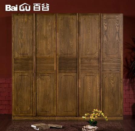 百谷 实木衣柜 中式实木家具