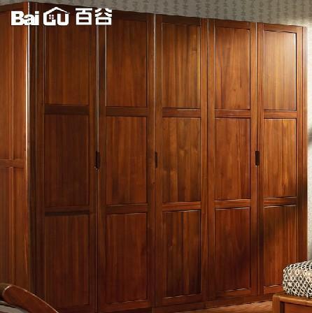 百谷 高端纯实木五门衣柜 特价简易衣柜
