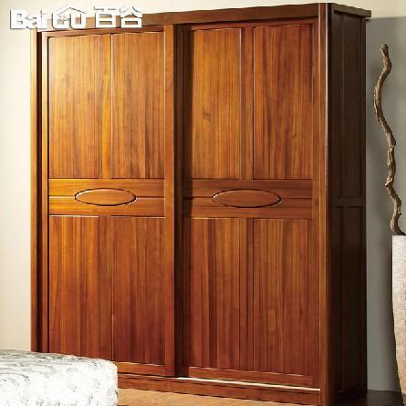 百谷 高端纯实木衣柜 特价衣柜 简易衣柜