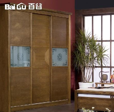百谷 实木衣柜 特价衣柜 中式实木家具
