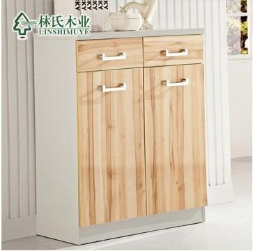 林氏木业简约现代储物柜 大容量收纳玄关鞋柜